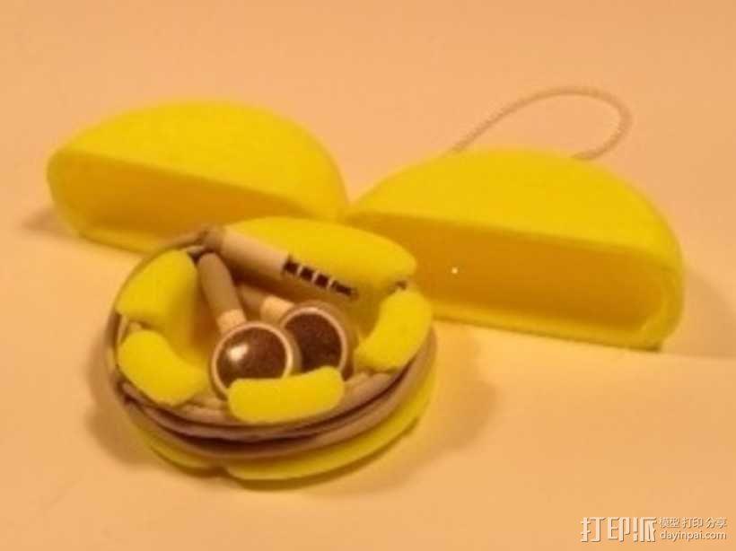 耳机收纳盒 3D模型  图2