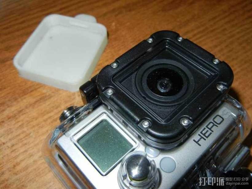 GoPro Hero3 相机镜头罩 3D模型  图2