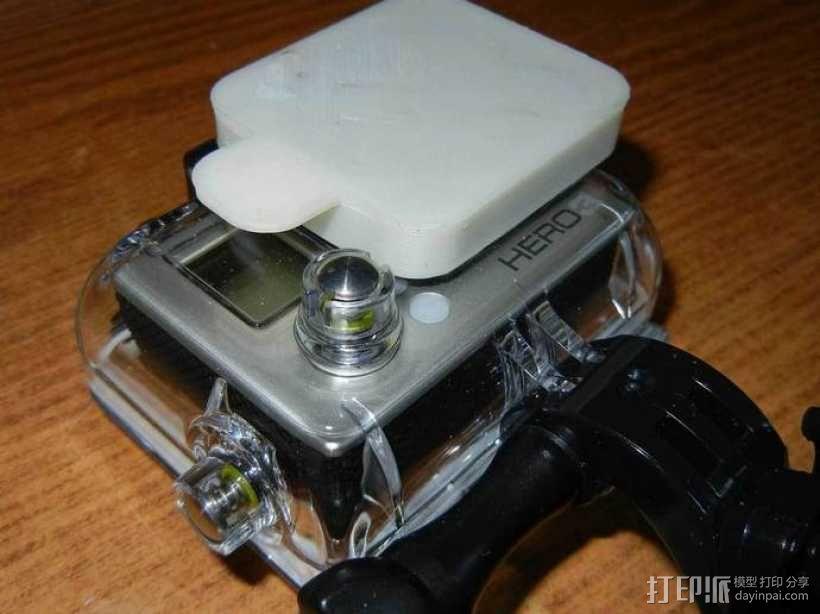 GoPro Hero3 相机镜头罩 3D模型  图1