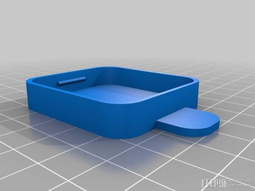 GoPro Hero3 相机镜头罩 3D模型  图3