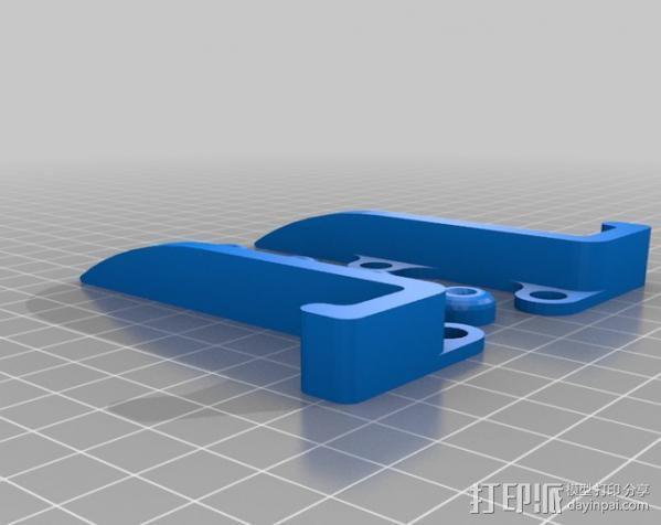 可调角度的iPhone手机架 3D模型  图2