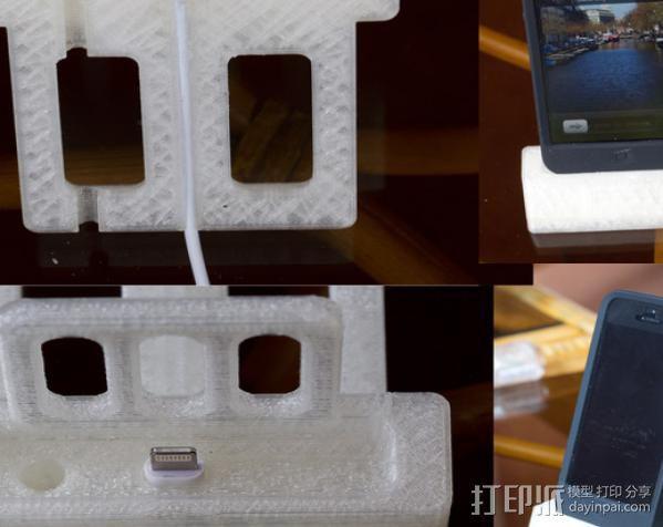 iPhone5手机充电座 3D模型  图6