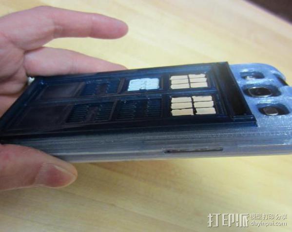 塔迪斯三星Galaxy S3手机套 3D模型  图6