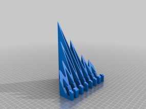 海浪形iPad支架 3D模型