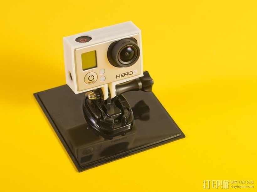 GoPro Hero3相机外框保护壳 3D模型  图1