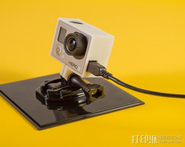 GoPro Hero3相机外框保护壳 3D模型  图4