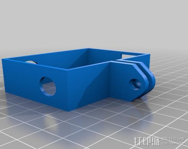 GoPro Hero3相机外框保护壳 3D模型  图3