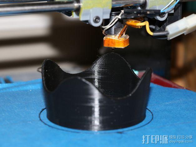 佳能相机镜头遮光罩 3D模型  图2