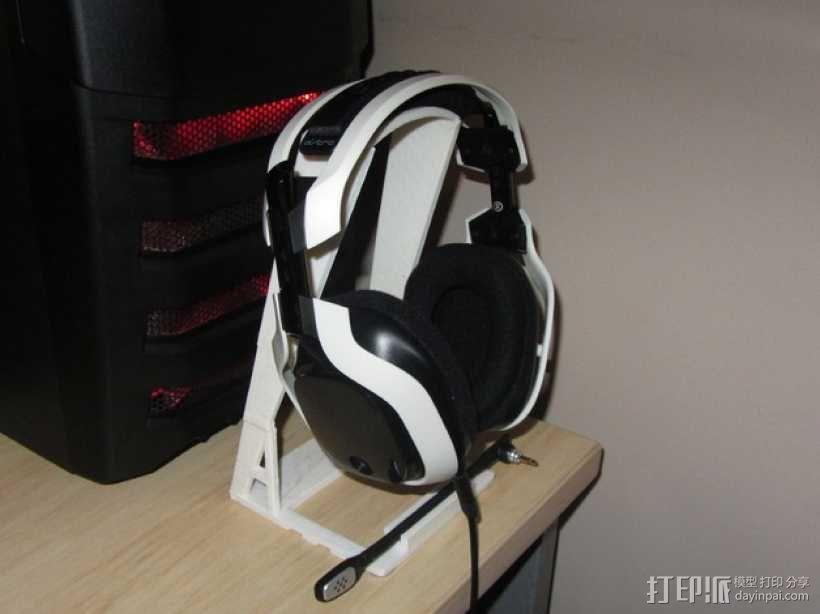 头戴式耳机展示架 3D模型  图2