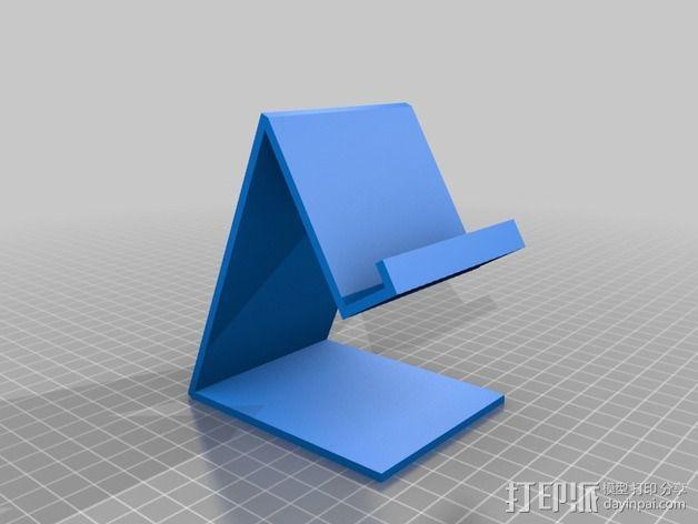 手机支撑架 3D模型  图2