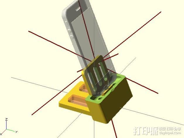iPhone 5 手机架 3D模型  图2