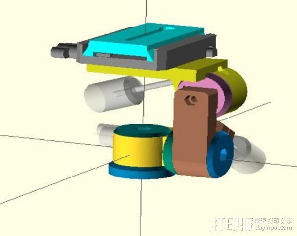 三脚架连接头 3D模型  图3