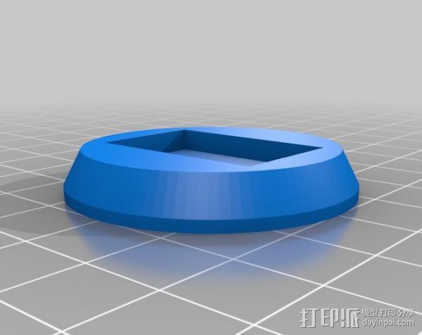 三脚架连接头 3D模型  图4