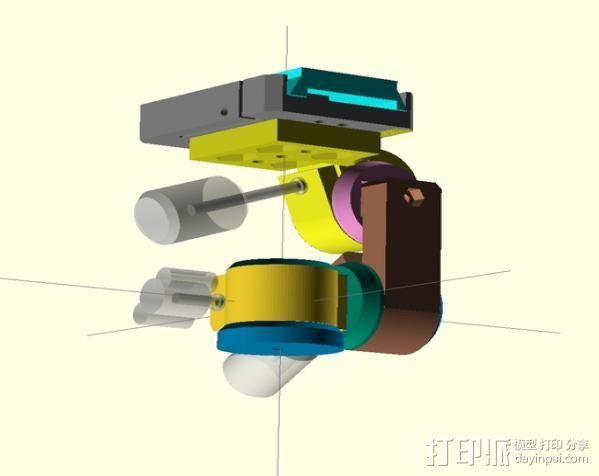 三脚架连接头 3D模型  图7
