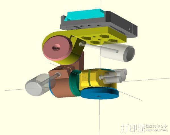 三脚架连接头 3D模型  图6