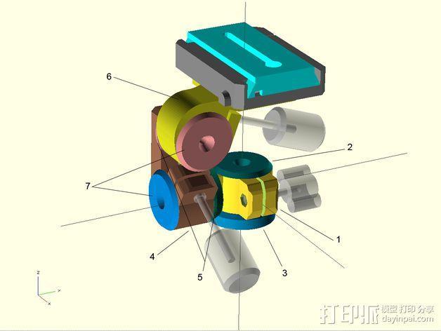三脚架连接头 3D模型  图8