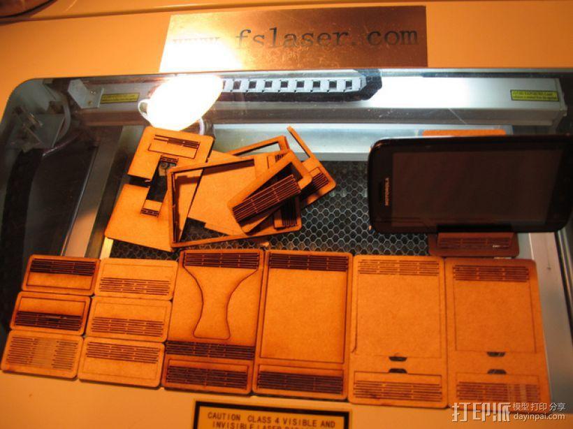 胶合板手机支撑架 3D模型  图2