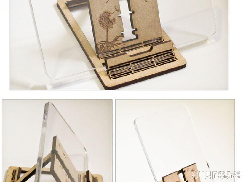胶合板手机支撑架 3D模型  图8