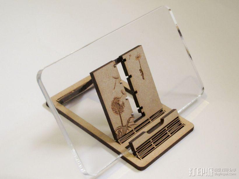胶合板手机支撑架 3D模型  图9
