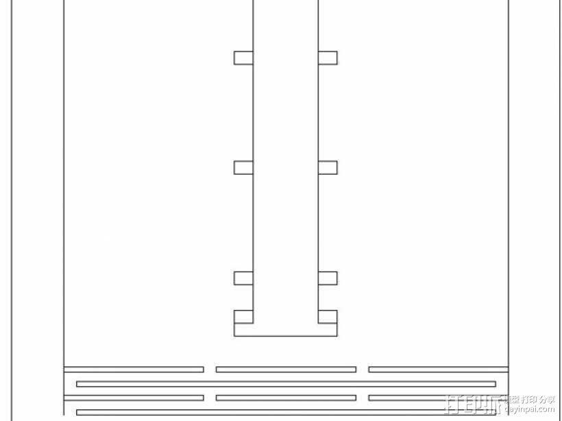 胶合板手机支撑架 3D模型  图11
