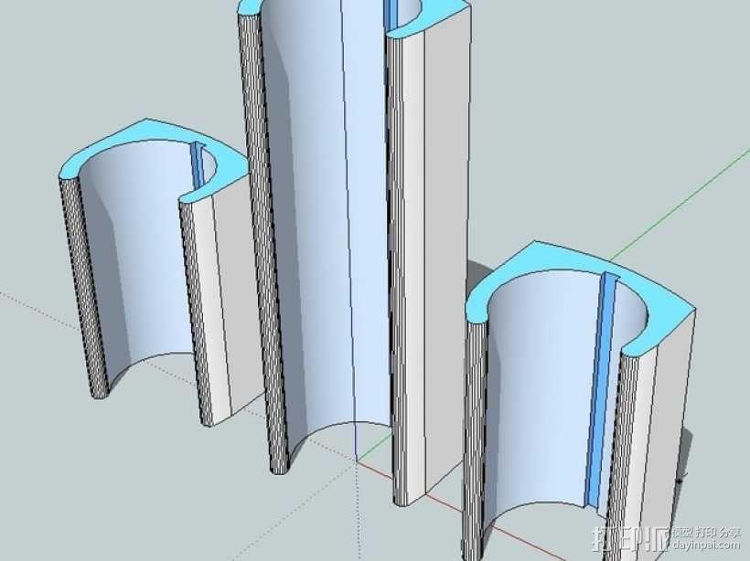 无线键盘触控板支撑 3D模型  图1