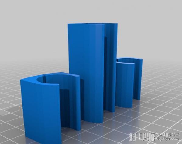 无线键盘触控板支撑 3D模型  图3