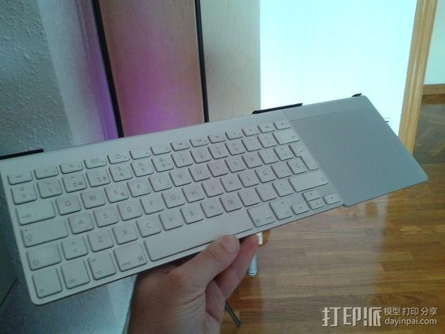 无线键盘触控板支撑 3D模型  图7