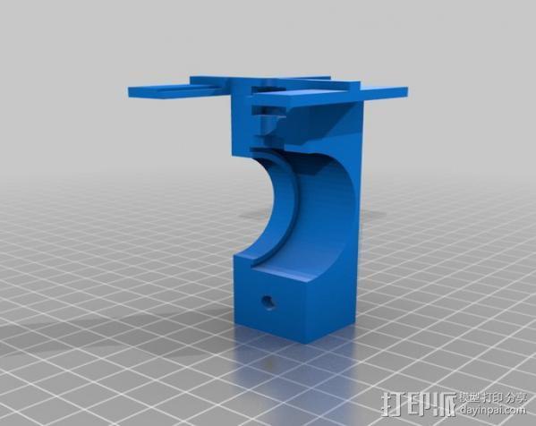 自行车载iPhone 5, 4 / 4S手机壳 3D模型  图2