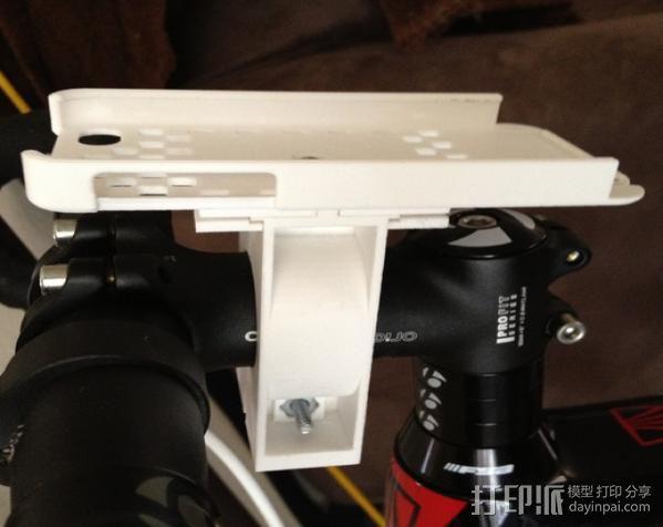 自行车载iPhone 5, 4 / 4S手机壳 3D模型  图4