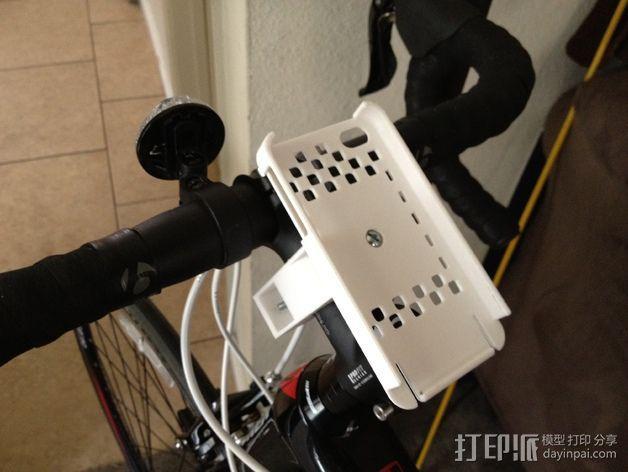 自行车载iPhone 5, 4 / 4S手机壳 3D模型  图3