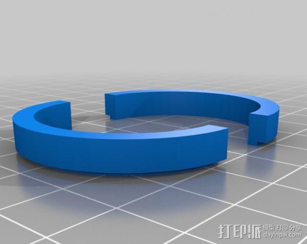 自行车载iPhone 5, 4 / 4S手机壳 3D模型  图8