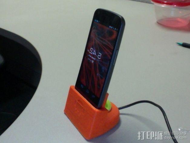 三星Galaxy 手机充电座 3D模型  图5
