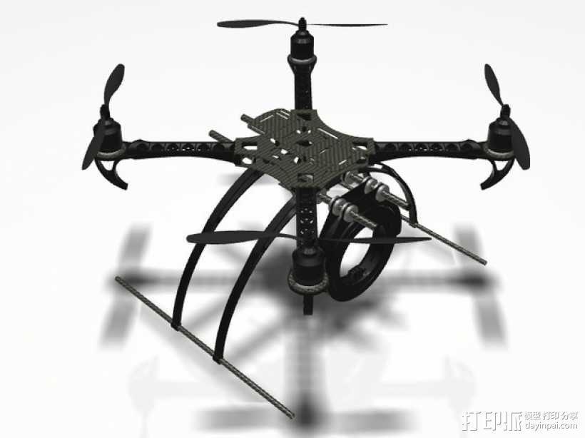 GoPro 相机万向接头 3D模型  图3