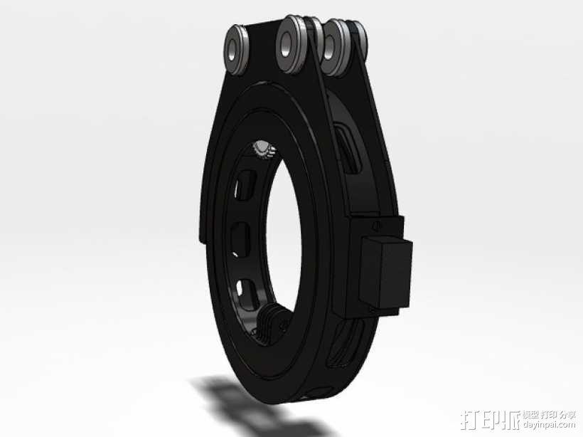 GoPro 相机万向接头 3D模型  图1