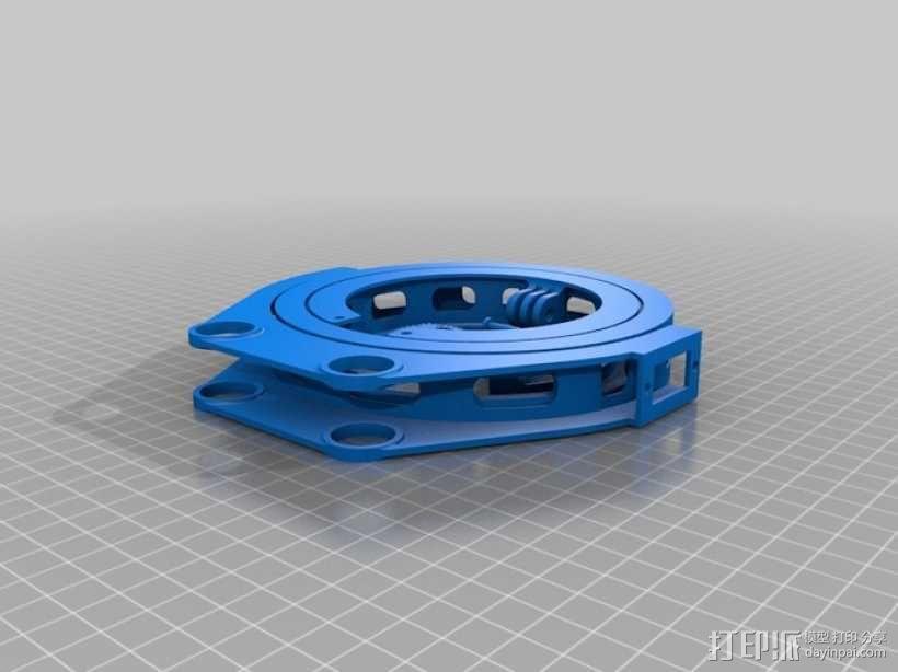 GoPro 相机万向接头 3D模型  图5