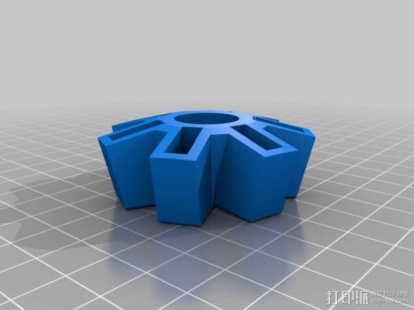 USB收纳盒 3D模型  图2