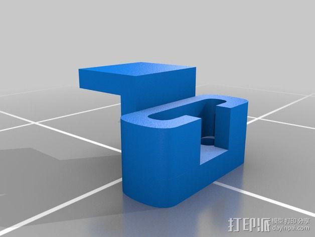 车载式 Ipod支架 3D模型  图2