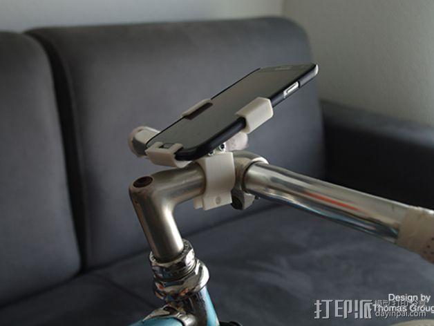 自行车载三星Galaxy S3手机支架 3D模型  图5