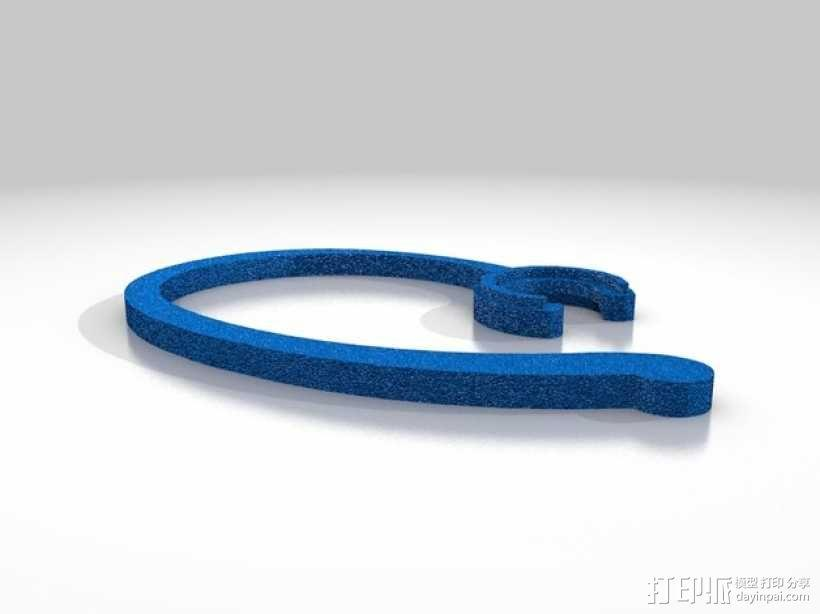 蓝牙耳机挂钩 3D模型  图2