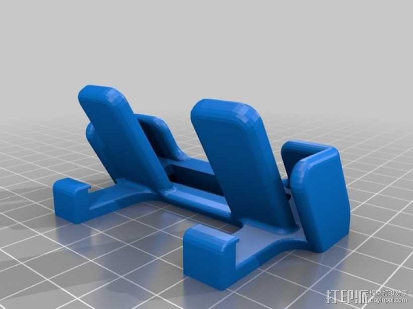 车载式iPhone 5c手机座 3D模型  图1