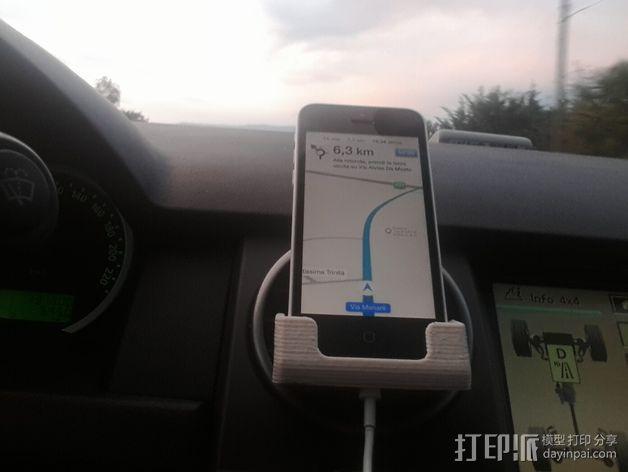 车载式iPhone 5c手机座 3D模型  图6