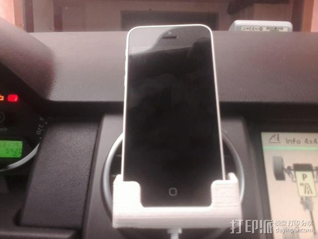 车载式iPhone 5c手机座 3D模型  图5