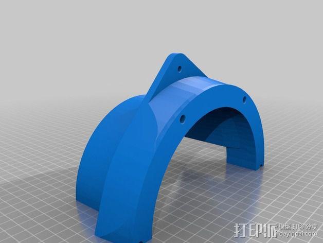 扩音器适配器 防溅伞 3D模型  图2