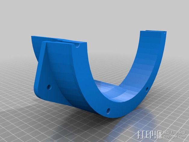 扩音器适配器 防溅伞 3D模型  图3