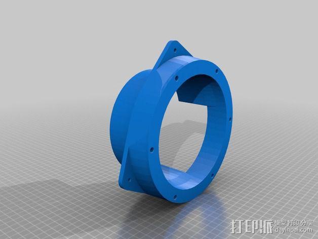 扩音器适配器 防溅伞 3D模型  图4