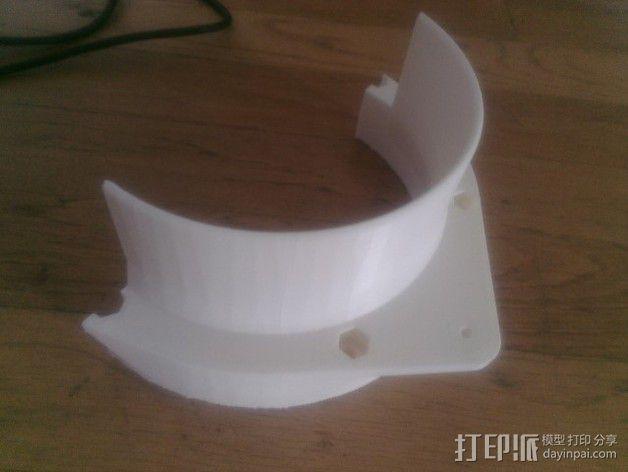 扩音器适配器 防溅伞 3D模型  图5