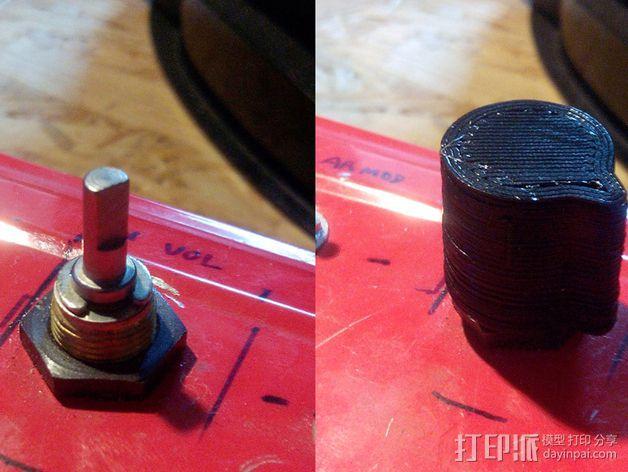 扩音器音量控制按钮  3D模型  图2