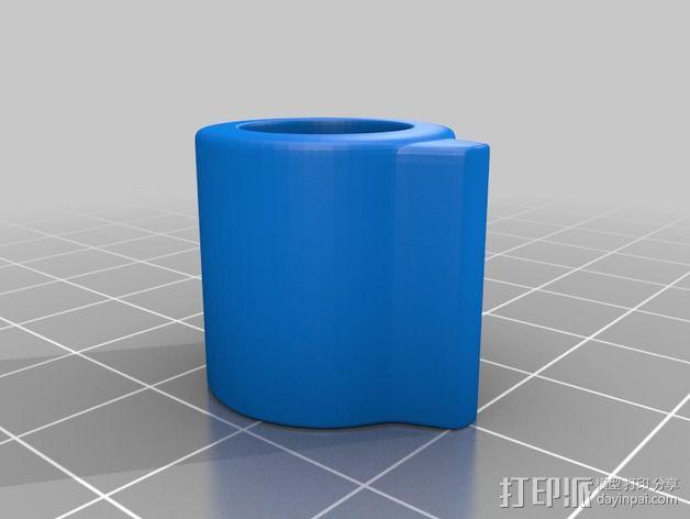 扩音器音量控制按钮  3D模型  图3