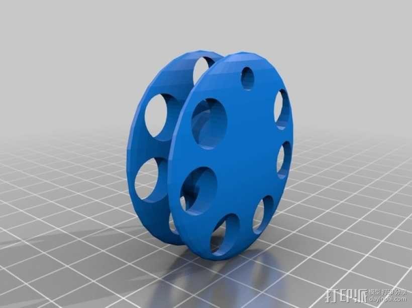 手摇纺车 3D模型  图1
