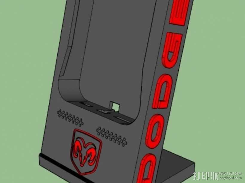 Dodge道奇手机充电座 3D模型  图1